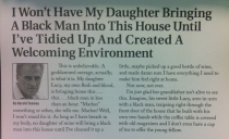 I Wont Have My Daughter Bringing a Black Man Into My house