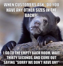 I work at a store that sells a lot of clothing items