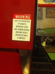 I work at an independently owned coffee shop We feature this sign on the side of our espresso machine It speaks the truth