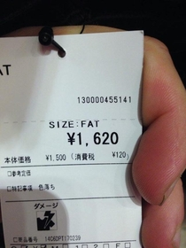 If theres something Japan doesnt do Its sugarcoating clothing sizes