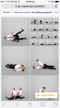 If you google Missionary position the first images are  Mormon missionaries in a range of positions