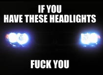 If you have these headlights fuck you