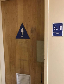 If you identify as me you can use this bathroom