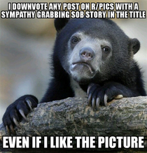 If your picture is good it doesnt need the sob story