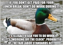 If youre forced by your manager contact HR and tell them you need to be paid for that time