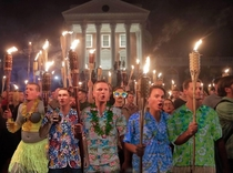 If youre going to show up with tiki torches you may as well dress the part