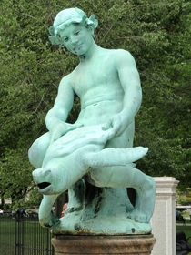 Ill see Popsie Doodles statue and raise you this A statue of a boy fucking a turtle