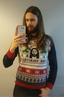 Ill see your Birthday Boy jumper and raise you a matching jumper and wearer
