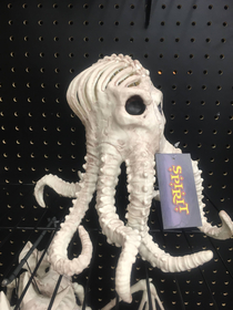 Im all for Halloween decorations but I draw the line at skeletons of invertebrates