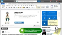 Im beta testing the new Microsoft LinkedIn interface