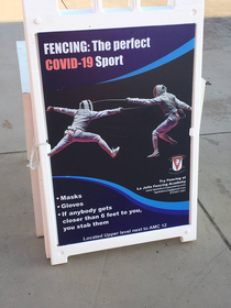 Im convinced to learn fencing