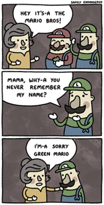 Im not green Mario