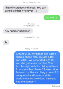 Im old I guess number neighbor is now a thing I think I traumatized a kid No answer