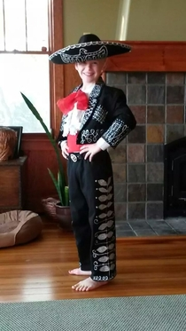 Im proud of my sons lesser known costume He wanted to be Dusty Bottoms from the Three Amigos