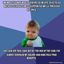 Im ridiculously proud of my year and how hard I worked as a single parent