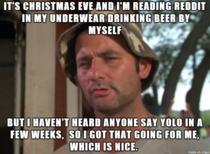 I consider myself lucky to be working christmas day - Meme Guy