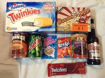 Im spending a year abroad so in honor of thanksgiving my European friends bought the most American things they could find