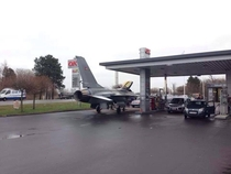 In Denmark we fill our fighter jets at the local gas station With diesel