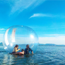 In Iseshima national park Japan tourists can float inside an airtight bubble for sightseeing