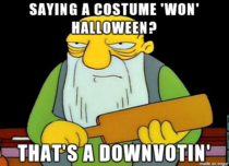 In light of all the costume photos this needs to be said