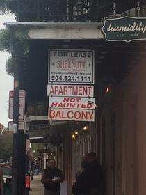 In New Orleans these signs are necessary