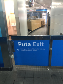 In New Zealand puta is Maori for exit So no this isnt a bitch exit at my local pools