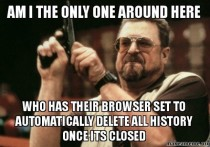 In reference to everybody talking about people seeing their browser history