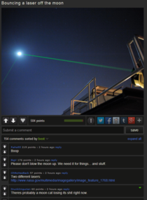 In response to Moon Laser Bouncing bottom comment in image made my night