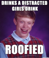 In response to the opportunist drinking a girls drink while she was hooking up