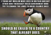 In the height of the news in Britain with the muslims and alcohol banning this is my opinion that some of you might disagree with