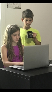 In their natural state my kids are basically a childrens office stock photo