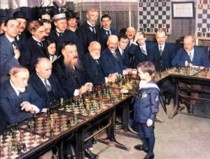 In   year old Samuel Reshevsky played chess with several chess masters at once He lost every single game
