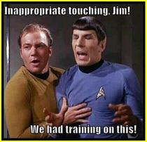 Inappropriate touching Jim