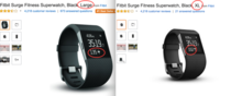 Increasing the fitbits size to XL on Amazoncom changes the picture to have a higher heartrate