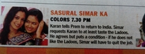 Indian daily soaps have the most intriguing plots