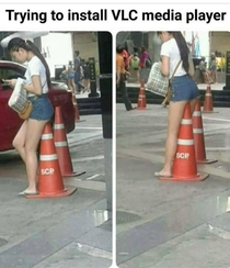 Installing VLC media player be like