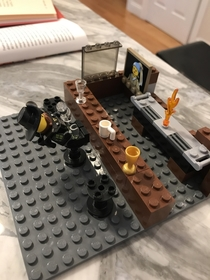 Instead of Millennium Falcons or fire trucks my  year old son builds Lego bars with drunk patrons