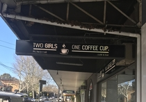 Interesting rebranding for my local coffee shop