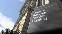 Internal Revenue Service Building sign looks like a Cards Against Humanity Card