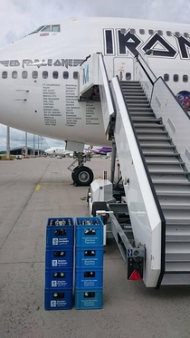 Iron Maiden came to Munich for refueling purposes