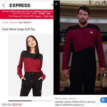 Is it just me or is Express serving Starfleet realness