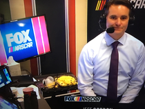 Is Jeff Gordon just eating a big casserole dish of pasta during the Daytona