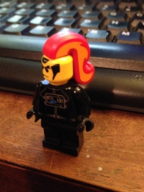It has come to my attention that Lego unicorn tails also make excellent punk hairdos