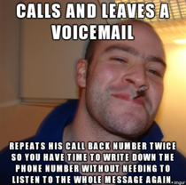 It is a small act but I love people that do this GGG leaves a Voicemail