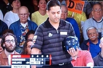 It takes a lot of balls to come to a professional bowling match and root for the pins