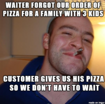 It was a busy restaurant so this guy certainly made my dads life easier