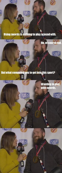 It was a funny interview
