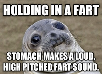 It was my stomach Somehow doesnt make the situation any less awkward