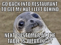 It was weird having to ask for my own hat back