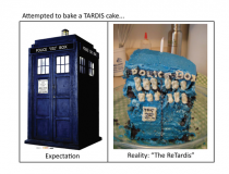 Its a piece of cake to bake a TARDIS cake